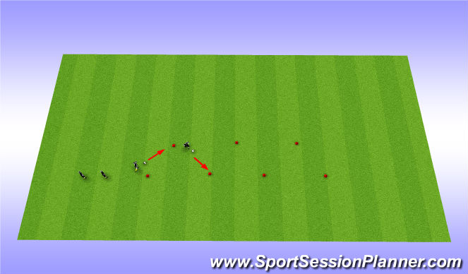 Football/Soccer Session Plan Drill (Colour): Dibbling warm-up