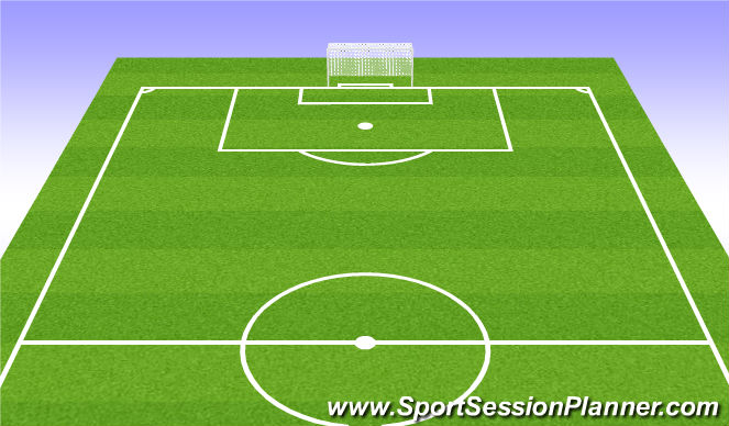 Football/Soccer Session Plan Drill (Colour): 9v9 game and working on forward runs.