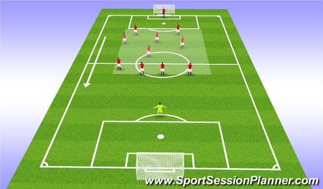 Football/Soccer Session Plan Drill (Colour): Team Shape w/out ball