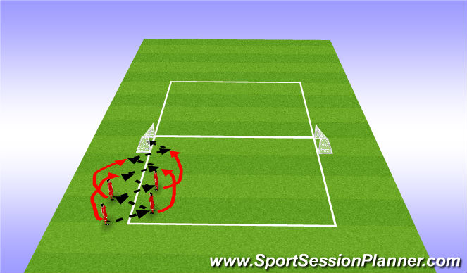 Football/Soccer Session Plan Drill (Colour): Skill Intro One touch movement