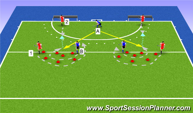 Hockey Session Plan Drill (Colour): I'm faster!