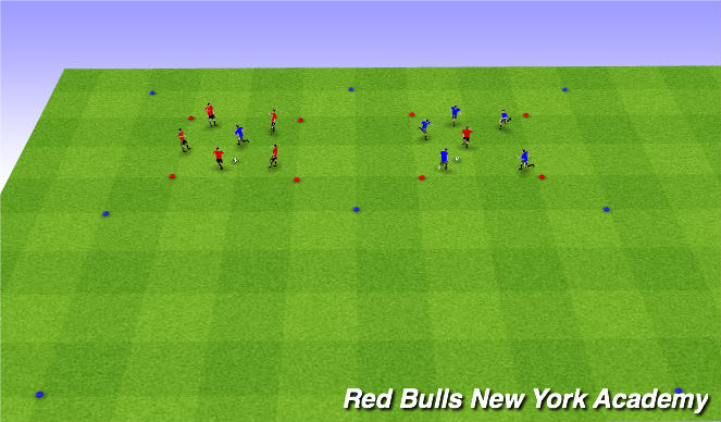 Football/Soccer Session Plan Drill (Colour): Red Square