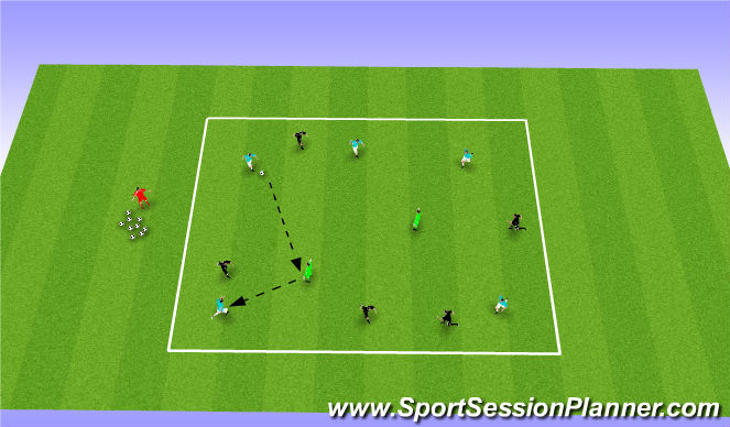 Football/Soccer Session Plan Drill (Colour): Brazilian Mental Speed Keepaway