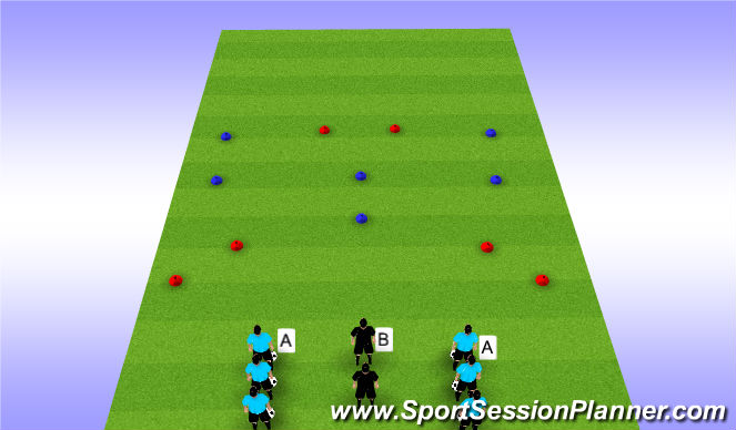 Football/Soccer Session Plan Drill (Colour): Group Play