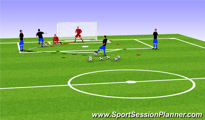 Football/Soccer Session Plan Drill (Colour): Skill Based