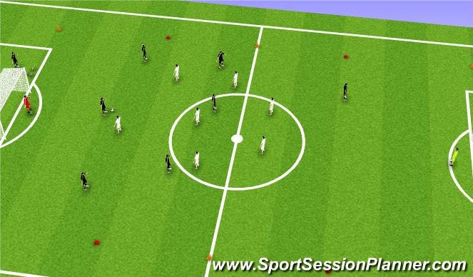 Football/Soccer Session Plan Drill (Colour): 8 v 8 Game