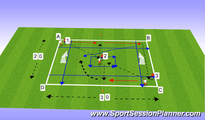 Football/Soccer Session Plan Drill (Colour): Aerobic Football
