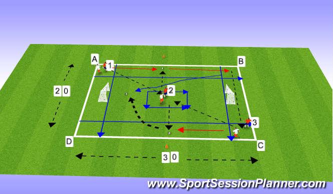 Football/Soccer Session Plan Drill (Colour): Aerobic Football