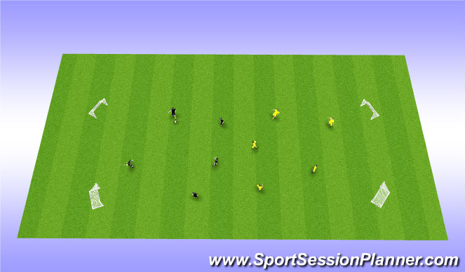 Football/Soccer Session Plan Drill (Colour): small sided scrimmage