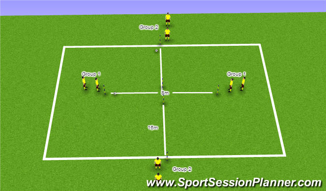 Football/Soccer Session Plan Drill (Colour): Warm Up Variation 7