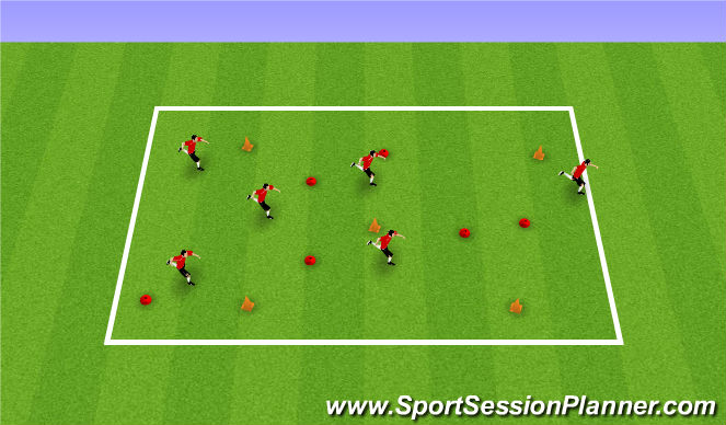 Football/Soccer Session Plan Drill (Colour): Mario Cart