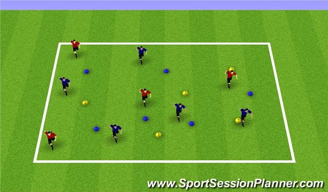 Football/Soccer Session Plan Drill (Colour): Pac Man