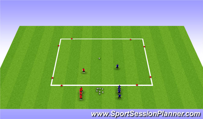 Football/Soccer Session Plan Drill (Colour): Smash Bros