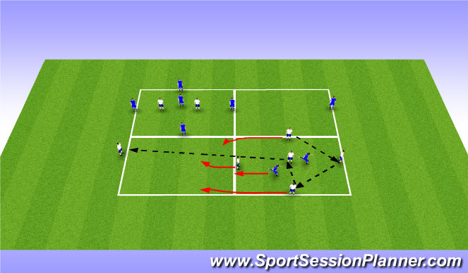 Football/Soccer Session Plan Drill (Colour): Switch Play Rondo