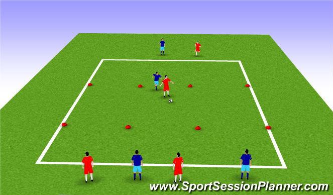 Football/Soccer Session Plan Drill (Colour): The Cage