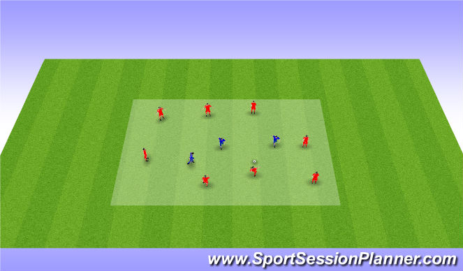 Football/Soccer Session Plan Drill (Colour): warm up extention