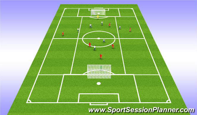 Football/Soccer Session Plan Drill (Colour): Leikrænþjálfun3: