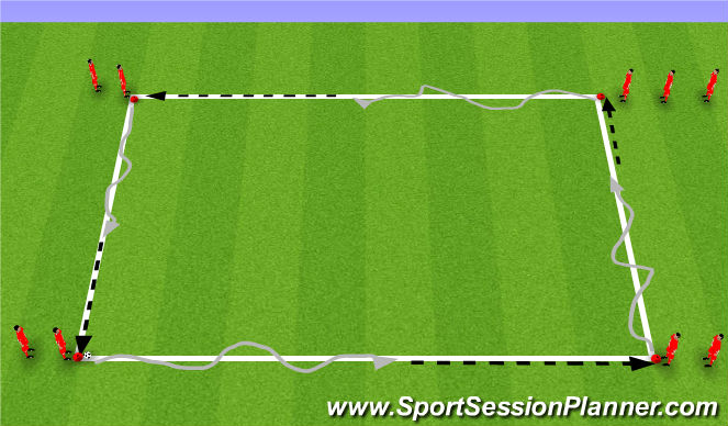 Football/Soccer Session Plan Drill (Colour): Dril