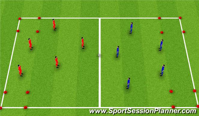 Football/Soccer Session Plan Drill (Colour): Gem