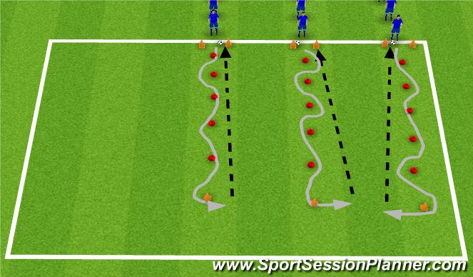 Football/Soccer Session Plan Drill (Colour): Cynhesu i fynnu