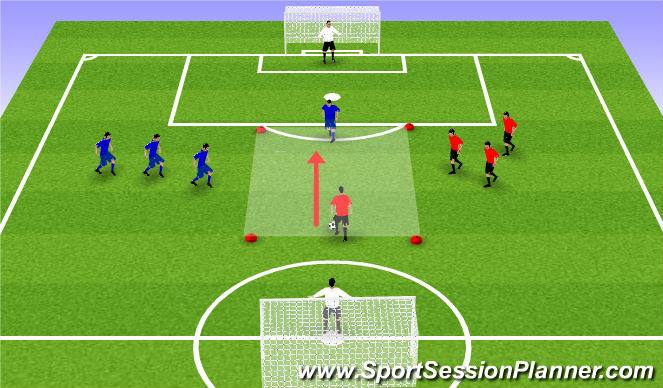 Football/Soccer Session Plan Drill (Colour): Pine Glen  ODP Week 10
