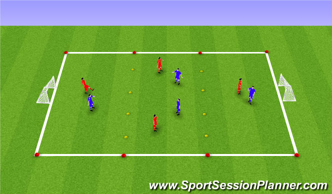 Football/Soccer Session Plan Drill (Colour): 3rd man cond game