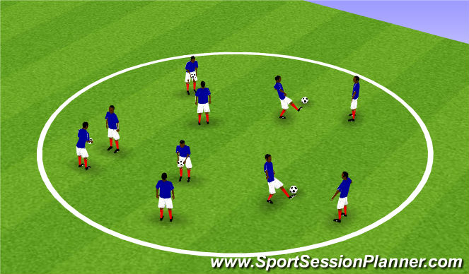 Football/Soccer Session Plan Drill (Colour): Partner Juggling