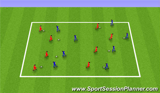 Football/Soccer Session Plan Drill (Colour): JUGGLING IN 2s