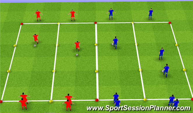 Football/Soccer Session Plan Drill (Colour): SKILLS AQUISITION