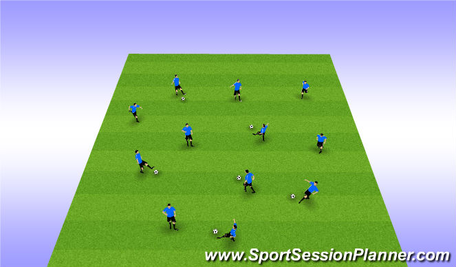 Football/Soccer Session Plan Drill (Colour): Passing Warm-up FREE SPACE
