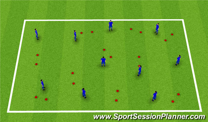 Football/Soccer Session Plan Drill (Colour): Adweithiau