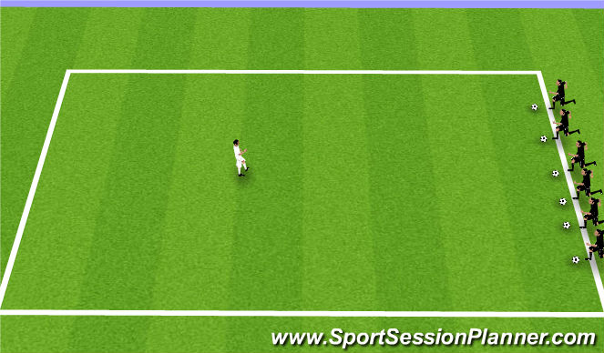Football/Soccer Session Plan Drill (Colour): British Bulldog