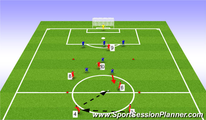 Football/Soccer Session Plan Drill (Colour): Defending exercise 3