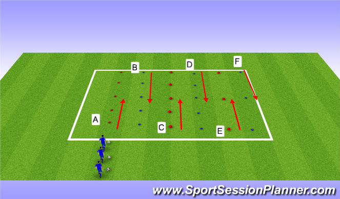 Football/Soccer Session Plan Drill (Colour): Ball Control and Fitness