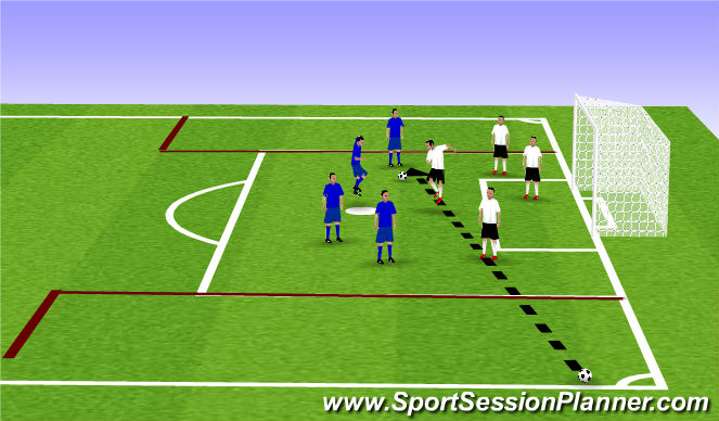 Football/Soccer Session Plan Drill (Colour): Off and Def Headers