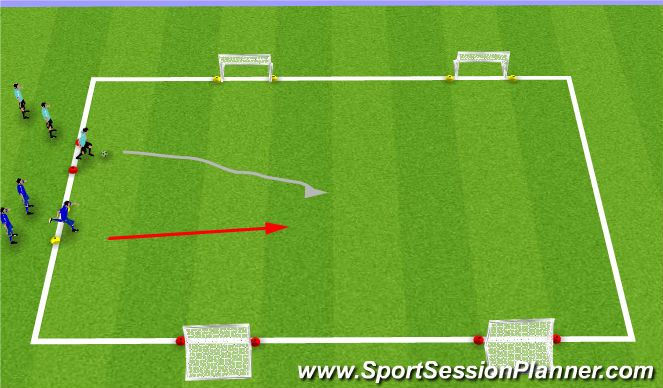 Football/Soccer Session Plan Drill (Colour): 1v1 Skills