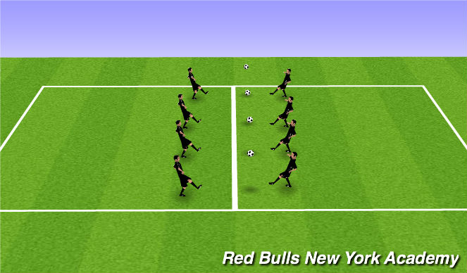 Football/Soccer Session Plan Drill (Colour): Warm up- Group juggling