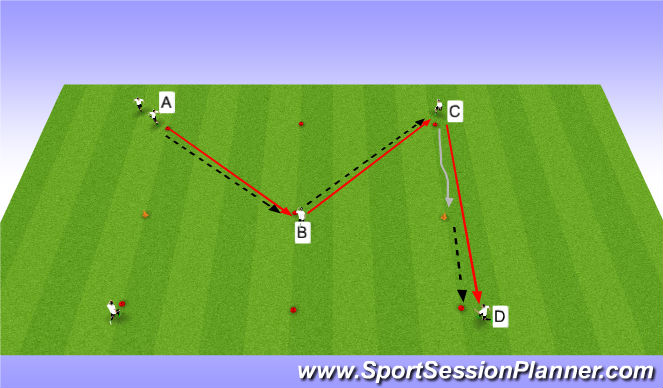 Football/Soccer Session Plan Drill (Colour): Ball movement