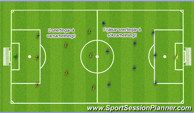 Football/Soccer Session Plan Drill (Colour): Skilyrt spil: