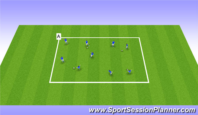 Football/Soccer Session Plan Drill (Colour): Station 3: Passing & Receiving