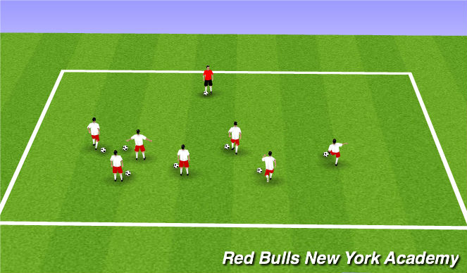 Football/Soccer Session Plan Drill (Colour): Warm Up Simon Says