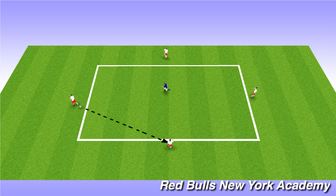Football/Soccer Session Plan Drill (Colour): Warm Up 4v1