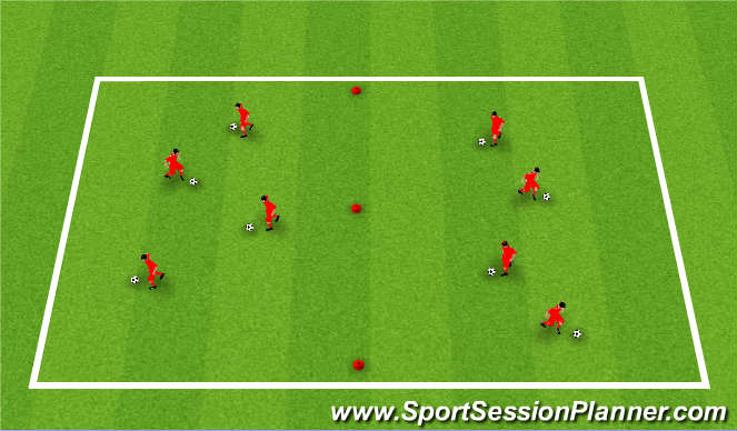 Football/Soccer Session Plan Drill (Colour): w-up / intro 1