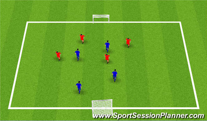 Football/Soccer Session Plan Drill (Colour): partij