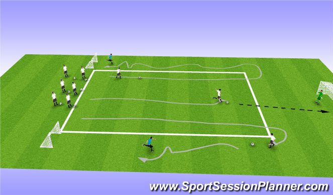 Football/Soccer Session Plan Drill (Colour): Skills Corridor 2
