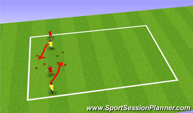 Football/Soccer Session Plan Drill (Colour): 1v1 Skill Intro