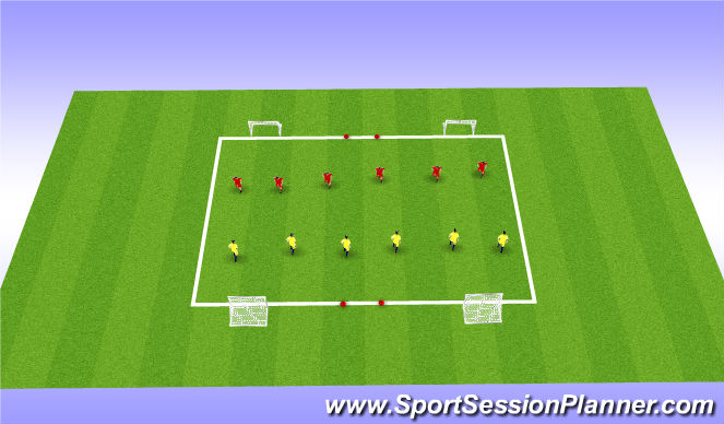 Football/Soccer Session Plan Drill (Colour): 1v1 Game