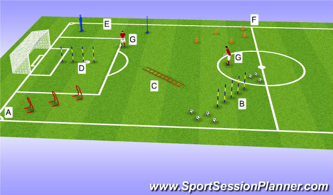 Football/Soccer Session Plan Drill (Colour): Pre season 2