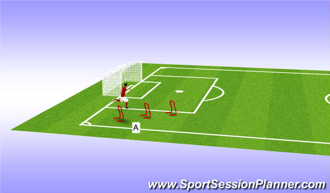 Football/Soccer Session Plan Drill (Colour): Pre season 2 (a)