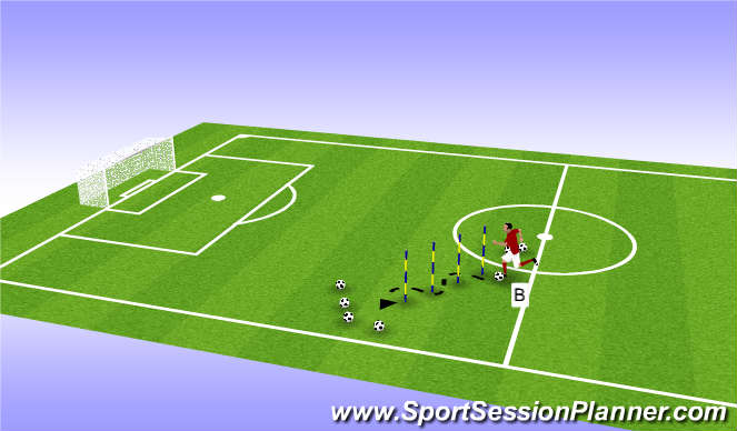 Football/Soccer Session Plan Drill (Colour): Pre season 2 (b)